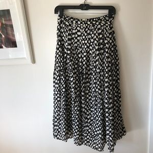Silk polka dot black and white skirt size 00